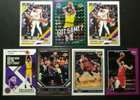 ANTHONY DAVIS Lot (7 CARDS) HOOPS PURPLE PARALLEL - MOSAIC GREEN PRIZM - LAKERS