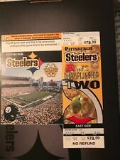 Pittsburgh Steelers 2002 AFC Championship Game Ticket