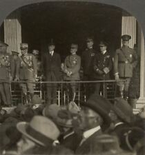 Gathering of Military Heroes of World War at Kansas City, USA. WW1 Stereoview