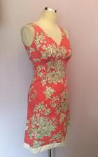 ADY GLUCK- FRANKEL PINK,WHITE & GREEN FLORAL PRINT DRESS SIZE S UK 6/8