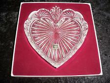 """ONEIDA Crystal Southern Garden Heart Tray 8"""" C027-151 Made in Germany 1995"""