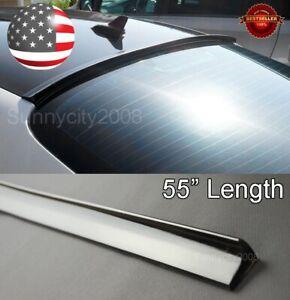 "55"" Semi Gloss Black Rear Diffuser Window Roof Trunk Spoiler Lip For Honda Acura"