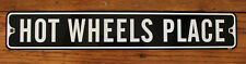 "Metal Street Sign Hot Wheels Place Auto Racing Nascar Outdoor Bar Decor 3""x18"""