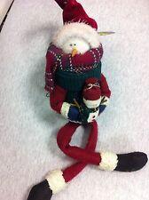 + scatola natalizia la testa e il tappo forma di omino neve si toglie natale