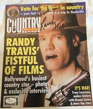 RANDY TRAVIS SIGNED COBER of Country Weekly Magazine w/ JSA COA Nice Collectible