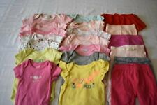 USED 20 PC. LOT OF NEWBORN BABY GIRL CLOTHES/BODYSUITS 0-3 MONTHS EUC/VGUC
