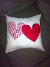 Shabby Chic Calico red/white Hearts Cushion Cover!