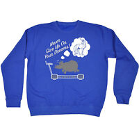 Never Give Up On Your Dreams SWEATSHIRT birthday cute rhino joke funny gift
