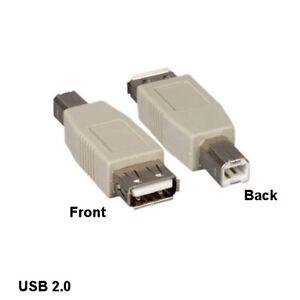 Kentek USB 2.0 Type A Female to B Male Changer Adapter Printer Scanner PC Modem