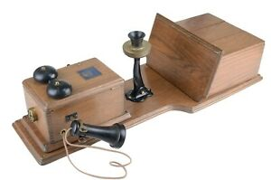 Vintage American Electric Double Box Wall Telephone