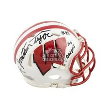 Jonathan Taylor Go Badgers Autographed Wisconsin White Mini Football Helmet BAS
