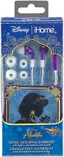Disney Aladdin Noise Isolating Earbuds with Built in Microphone and Pouch