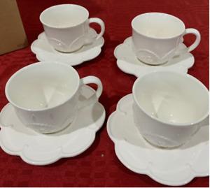 Princess House Marbella 8 Pc. Teacup & Saucer Set 3254 HTF
