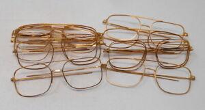 lot de 12 lunettes anciennes en métal  doré-vintage-eyeglasses-made in france (5