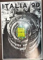 Manifesto Poster Mondiali Italia '90 Calcio Buzzi 1990 Originale 50x70cm