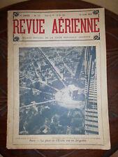 REVUE AERIENNE - N° 112 DU 10 JUIN 1913 - LA PLACE DE L'ETOILE VUE EN DIRIGEABLE