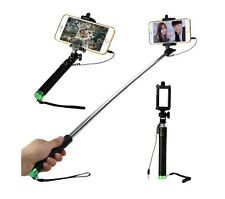 Portable Stretch Selfie Stick Self Photo Shutter w Phone Holder - iPhone & more