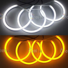 Dual-color SMD LED ANGEL EYES HALO RING Cover light for BMW E46 NON-projector