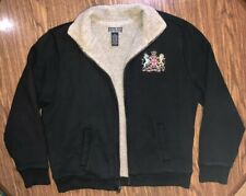 Lucky Brand Black Jacket Manchester Vintage Inspired Sherpa Lined Men's Size L