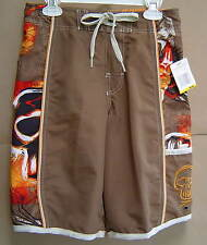NWT $32 Boys M SPEEDO Brown Swim Trunks Board Water Shorts 10 12 FREE SHIPPING