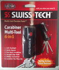 Swiss Tech  Carabiner Multi-Tool 6-in-1 with LED Flashlight - Stocking Stuffer