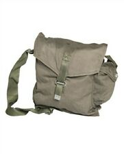 COTTON MILITARY SHOULDER BAG, VINTAGE CANVAS ARMY SURPLUS  TRAVEL RETRO BAG