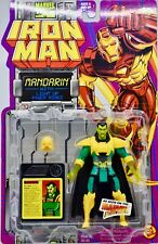 1994 Toy Biz Iron Man Mandarin Action Figure & Light Up Power Rings Mint OOP