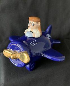 Wade - Tetley Tea Aeroplane Money Box with Gold Propeller - Limited Edition