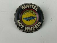 "Vintage 1968 Mattel Hotwheels ""Splittin' Image"" Button Pin"