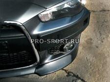 Mitsubishi Lancer X 2007-2011 front bumper lip corner spoiler abs front fangs