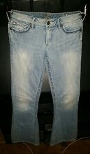 EUC!  SILVER JEANS CO women's Isabel skinny distressed denim 26 x 33 ask look