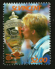 BORIS BECKER GERMANY FORMER WORLD NO. 1 PROFESSIONAL TENNIS PLAYER  MINT STAMP