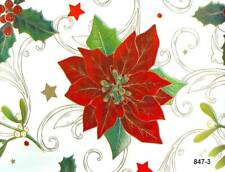 Tablecloth by the Metre Oilcloth Washable Christmas Christmas Star Red