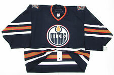 EDMONTON OILERS AUTHENTIC AWAY REEBOK 6100 TEAM ISSUED JERSEY GOALIE CUT 58