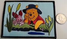 Winnie the Pooh & Piglet Cute Embroidered Iron On Patch - New, Rare 2006, Disney