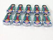 Virgen De Guadalupe 10 Piezas Para Hacer Pulseras