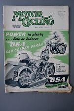 R&L Mag: Motor Cycling Jan 7 1954 Simplex Auto/Jimmie Simpson/Bantam 125 Tuning