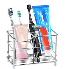 Stainless Steel Bathroom Toothbrush Holder Toothpaste Holder Stand Vertical Tool