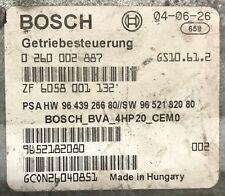 Calculateur BOSCH PEUGEOT 607 2.2 HDI 9643926680 0260002887
