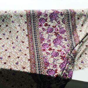 1Yard*140cm Bohemian Dress Fabric Viscose Rayon Paisley Pattern Poplin Retro