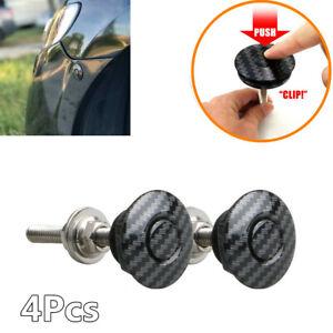 30mm Push Button Quick Release Hood Bonnet Pins Lock Clip Car Bumper Latch Kit