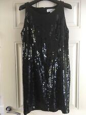 Next Black Sequin Evening Cocktail Dress, Size 14