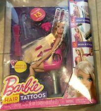Barbie Hair Tatoos Doll in open box w/ Salon Chair & accessories