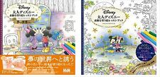 2 Set! Disney Lovely coloring lesson book for adult drawing Cute F/S from Japan