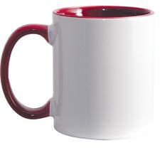 11 oz Sublimation Mugs - Inner & Handle - Maroon - 36/case (21134-1)