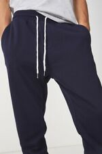 Factorie Mens Basic Track Pant Fleece Bottoms  In  Blue