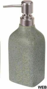BM 4054 Set di Accessori da Bagno in Ceramica Verde Porta Cotton Fioc Dispenser 5 Pezzi Portasaponetta Portascopino Portaspazzolino