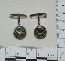 Vintage Sterling Silver .925 Ball Chain Cufflinks Mexico Older Eagle Hallmark