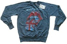 Amplified Vintage Rolling Stones Union Jack Langue Vip Sweat Pull Sweat Shirt S