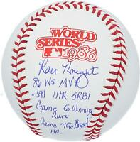 Ray Knight Mets Signed 1986 World Series Logo Baseball & Multiple Inscs - LE 7